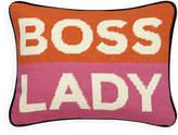 Jonathan Adler UK Needlepoint Personality Pillow - Boss Lady