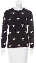 Chinti and Parker Abstract Patterned Cashmere Sweater