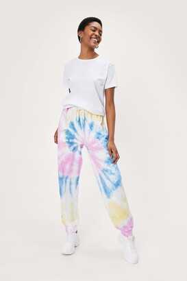 Nasty Gal Womens Now in Color Tie Dye Joggers - Yellow - S