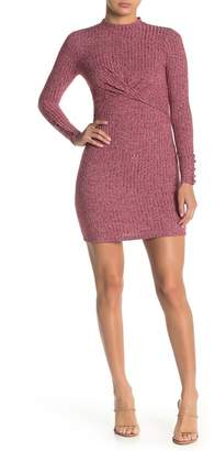 Taylor & Sage Front Twist Solid Knit Dress