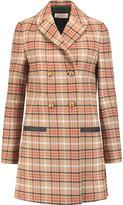 Tory Burch Plaid Twill Coat