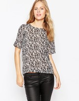 Pepe Jeans Abstract Print Short Sleeve Shirt