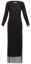 Marques Almeida Marques'almeida - Long-sleeved Mesh Maxi Dress - Womens - Black