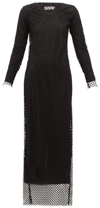 Marques Almeida Long-sleeved Mesh Maxi Dress - Black