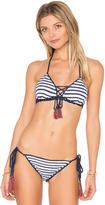Anna Kosturova Sailor Aztec Lace Up Top