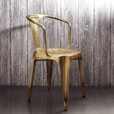 Graham and Green Isaac Iron Armchair In Brass