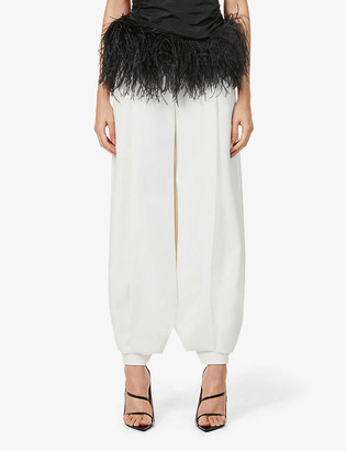 Alexandre Vauthier Tapered high-rise stretch-crepe trousers