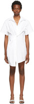 Thumbnail for your product : alexanderwang.t White Twisted Placket Dress
