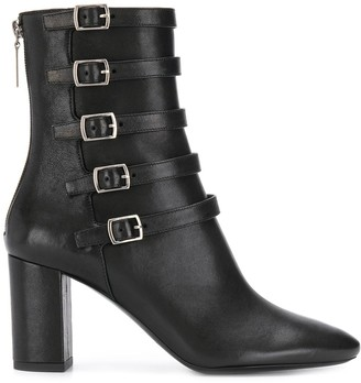 Saint Laurent Lou 75 ankle buckle boots