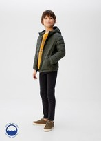 MANGO Water-repellent quilted coat khaki - 5 - Kids