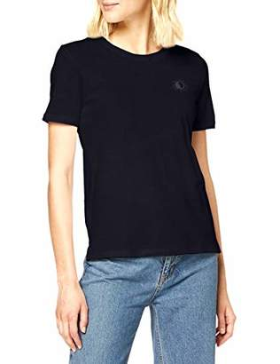 Scotch & Soda Women's Organic Cotton Tee with Chest Artwork T-Shirt,X-Large