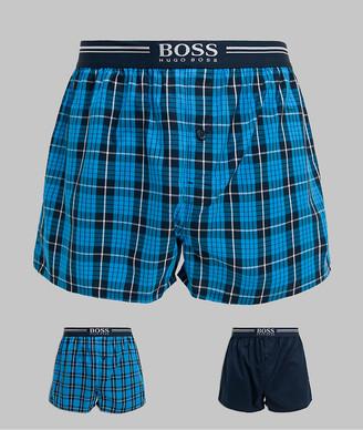 HUGO BOSS bodywear 2 pack woven boxers in check print