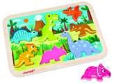 Janod Dinosaur Animals Chunky Puzzle