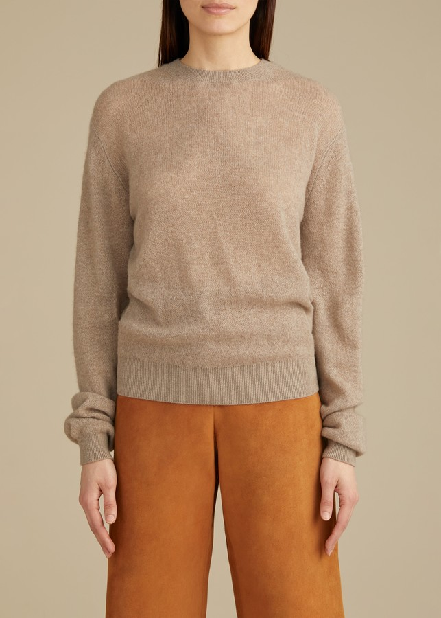 KHAITE The Viola Sweater in Husk