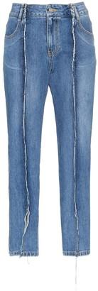 Sjyp Raw Seam Denim Jeans