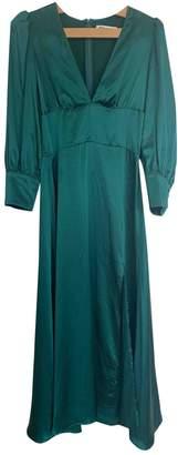 Reformation Green Silk Dress for Women
