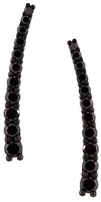 Alinka black rhodium 18kt white gold DASHA SUPER FINE diamond cuff earrings
