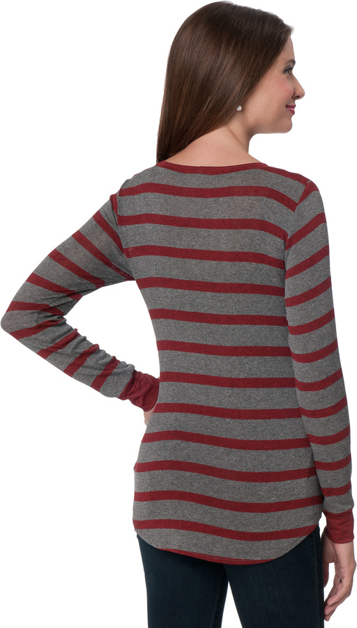 A Pea in the Pod LNA Long Sleeve Striped Maternity Sweater