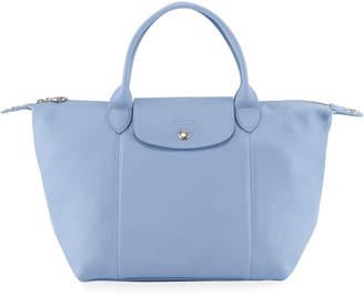 Longchamp Le Pliage Cuir Medium Leather Handbag with Strap