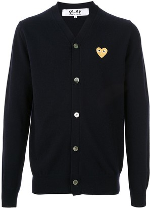 Comme des Garcons Embroidered Logo Cardigan