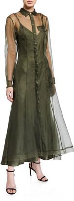 Maggie Marilyn Keep It Together Sheer Organza Dress