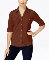 Style&Co. Style & Co. Petite Jersey Utility Shirt, Only at Macy's