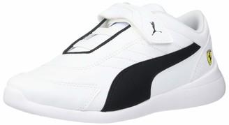 Puma Unisex-Kid's SF Kart CAT Velcro Sneaker White Black-Rosso Corsa 12 M US Little Kid