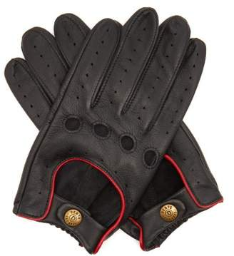 Dents Delta Leather Driving Gloves - Mens - Black