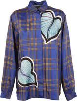 Marco De Vincenzo Heart Leaf Checkered Shirt