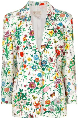 Gucci Pre-Owned Floral Print Single-Breasted Jacket