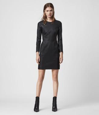 AllSaints Cowling Leather Dress