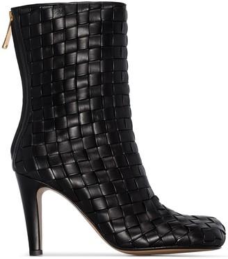 Bottega Veneta Intrecciato 90mm ankle boots