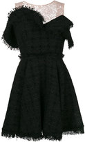 MSGM lace panel flared dress - women - Cotton/Polyamide/Polyester/Wool - 38