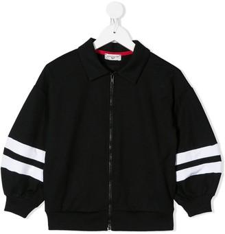 MonnaLisa Contrasting Stripe Bomber Jacket