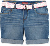 Arizona Mid Thigh Denim Shorts - Girls 7-16, Slim and Plus