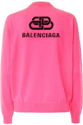 Balenciaga Logo wool sweater