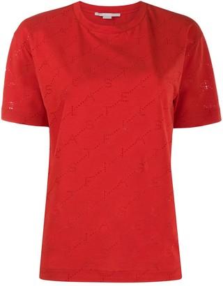Stella McCartney perforated monogram T-shirt