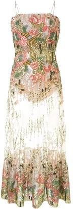 Alexis Sequinned Midi Dress