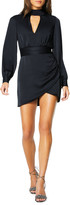 Ramy Brook Angela Mock-Neck Long-Sleeve Short Dress