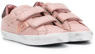 Philippe Model Kids Glitter Touch Strap Sneakers