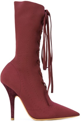 Yeezy Pointed Lace-Up Boots