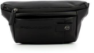 Piquadro Mens Black Belt Bag