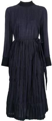 BODICE merino wool overlap tie dress with steel