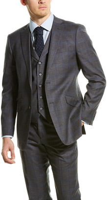 English Laundry 3Pc Vested Suit With Flat Front Pant