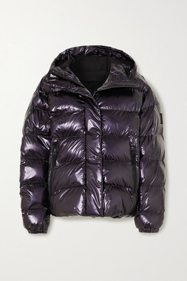 Bogner Fire & Ice BOGNER FIREICE - Ranja Oversized Cropped Hooded Metallic Quilted Ski Jacket - Purple