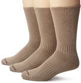 Carhartt Men's 3 Pack Work Wear Flat Knit Crew Socks