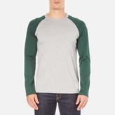 Carhartt Long Sleeve Dodgers Tshirt - Grey Heather/conifer