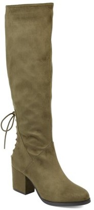 Brinley Co. Womens Extra Wide Calf Knee-high Heeled Boot
