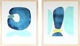 "Serena & Lily ""Sea Stones I & II"" by Rob Delamater"