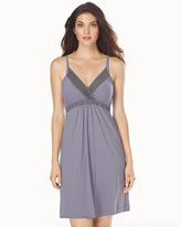 Soma Intimates Striped Nursing Chemise Gray/Lilac